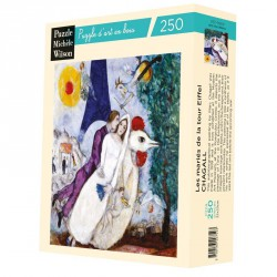 Puzzle pour adultes Les mariés de la Tour Eiffel - Chagall