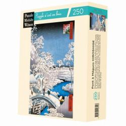 Puzzle for Adults The Meguro Bridge - Hiroshige