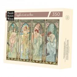 Puzzle pour adultes Les Heures du jour - Alfons Mucha