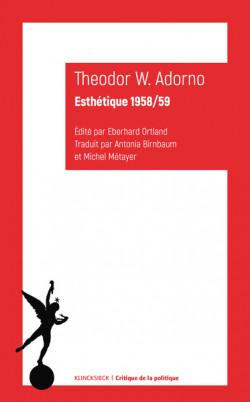 Theodor W. Adorno - Esthétique 1958/59