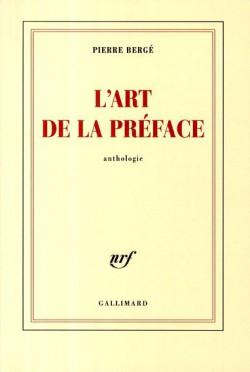 L'art de la préface