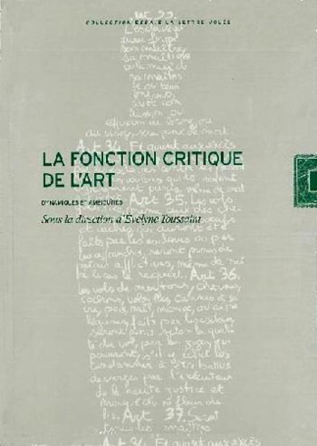 La fonction critique de l'art
