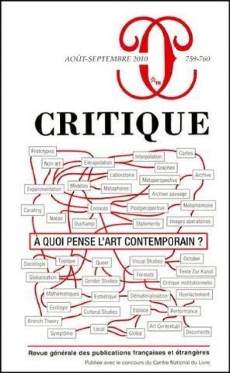 Revue Critique, à quoi pense l'art contemporain ?