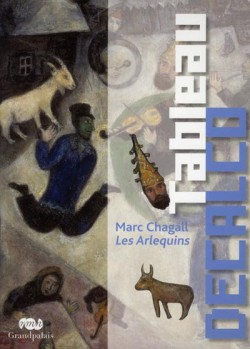 Art pour enfant : Tableau décalco de Les Arlequins, de Marc Chagall