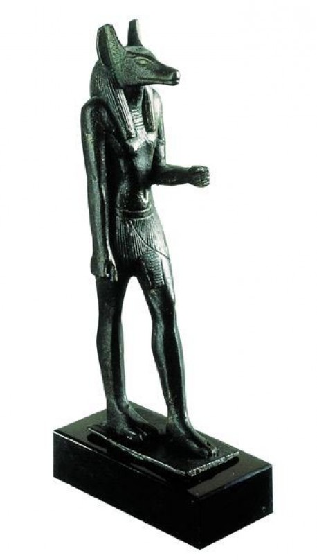 Sculpture of the god Anubis, Egyptian Antiquities (Resin replica).