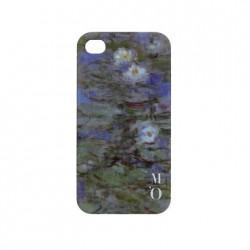 Arty IPhone 4 case - Blue Waterlilies
