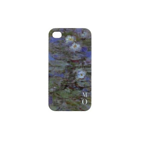Arty IPhone 4 case - Blue Waterlilies