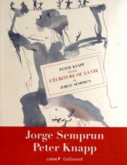 """Livre d'art Peter Knapp dessine """"L'écriture ou la vie"""" de Jorge Semprun"""