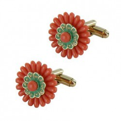 Flower Cuffkinks - French Museums Gift Store, Paris