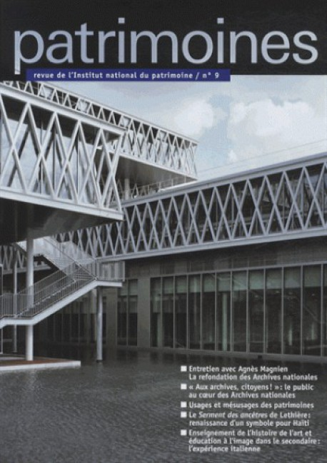 Revue Patrimoines n°9 - 2013