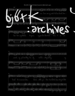 Catalogue d'exposition Bjork, archives