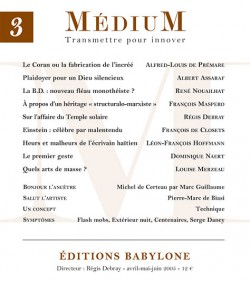 Revue Médium N°3 - avril-mai-juin 2005