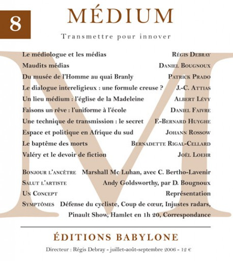 Revue Médium N°8 - juillet-août-septembre 2006