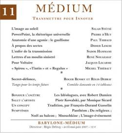 Revue Médium N°11 - avril-mai-juin 2007
