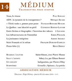 Revue Médium N°14 - janvier-février-mars 2008