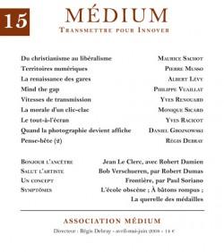 Revue Médium N°15 - avril-mai-juin 2008