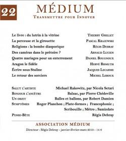 Revue Médium N°22 - janvier-février-mars 2010