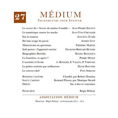 Revue Médium N°27 - avril-mai-juin 2011