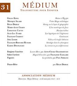 Revue Médium N°31 - avril-mai-juin 2012
