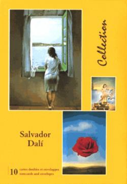 Salvador Dali, cartes doubles avec enveloppes