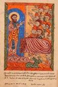 Saint Grégoire prêchant devant le roi Tiridade changé en sanglier