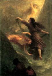 Henri Fantin-Latour (1836-1904). Scène première du Rheingold (L'Or du Rhin), 1888. Huile sur toile, Hamburger Kunsthalle © photo Elke Walford, Hamburger Kunsthalle/bpk