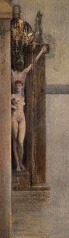 Fernand Khnopff, Un sortilège, 1912, huile sur toile marouflée. Collection privée.