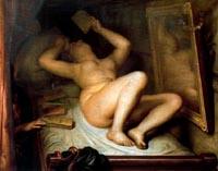 Antoine Wiertz, La Liseuse de romans, 1853, huile sur toile. Bruxelles, Musées royaux des Beaux-Arts de Belgique, inv.1971.