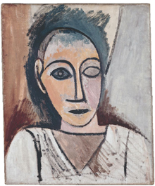 Buste d'homme. Picasso (1907)