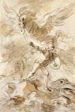 Jean-Honoré Fragonard (1732-1806). Roger aveugle l'orque (c) Private collection, photograph courtesy of Agnews