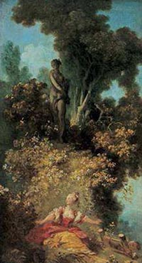 Jean-Honoré Fragonard (1732-1806). La Surprise (c) Musées d'Angers, photo Pierre David