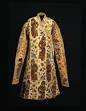 Manteau en velour de soie façonné