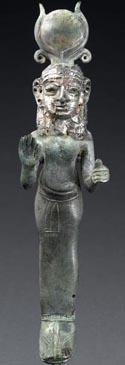 Statuette de divinité féminine hathorique, 1ère moitié du 1er millénaire av. J.-C.