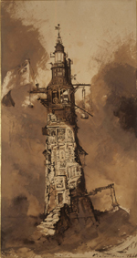 V. Hugo. Le phare d'Eddystone (1866)