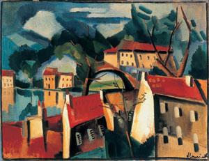 Village sur la rivière (1915)