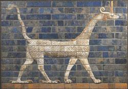 Dragon de Marduk du dernier état de la Porte d'Ishtar