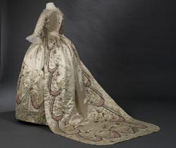 Robe parée : robe et jupe, 1780-1790