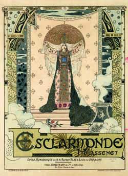 Esclarmonde : affiche d'Eugène Grasset