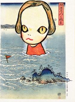 Yoshimoto NARA, Ocean Child (in the floating world), 1999 © Yoshimoto NARA